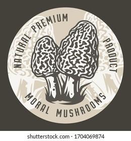 Autumn forest morel mushroom picking, vegetarian menu