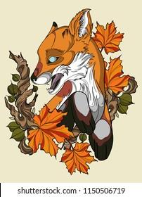 autumn fox tattoo