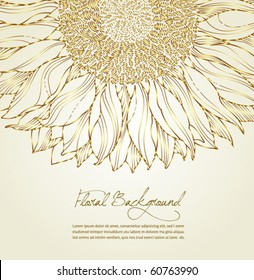 autumn golden floral background