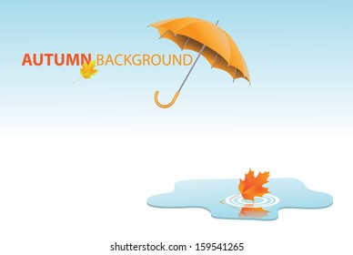 Autumn leaf background. EPS 10 vector, grouped for easy editing. No open shapes or paths.
