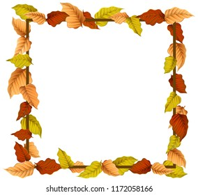 An autumn leaf border illustration