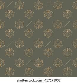Autumn leaf maple, seamless pattern vector illustration