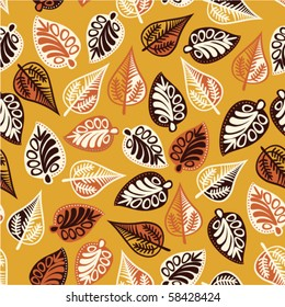 Autumn leaf  seamless pattern.