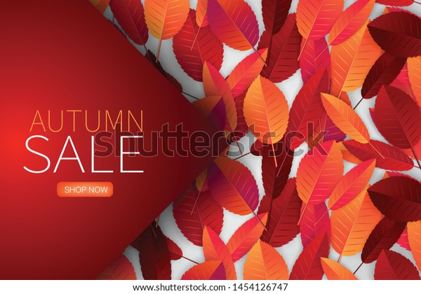 Autumn Leaves Background Wallpaper Fall Season Stock Vector