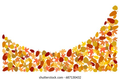 Autumn leaves background, wave.