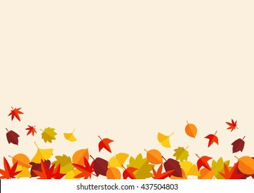 Autumn leaves fallen leaves background