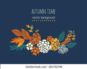 autumn leaves. floral illustration