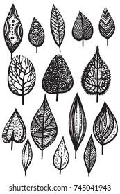 autumn leaves illustration vector