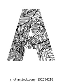 Autumn leaves letter A