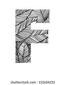 Autumn leaves letter F