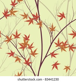 autumn leaves (seamless pattern)