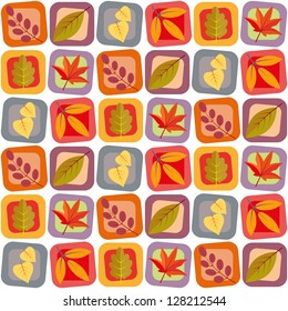 Autumn leaves seamless pattern The pattern is included in the swatches palette ready for you to easily fill any shape