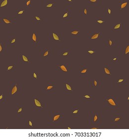 Autumn leaves seamless pattern. Vector background. Wrapping paper.