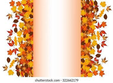 word autumn on autumn leaves stock vector royalty free 322686593