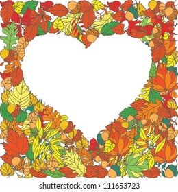 Autumn leaves vector background