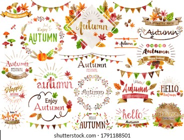 Autumn leaves vector design set