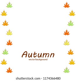 autumn maple leaves autumnal vector background