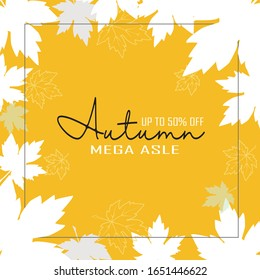 Autumn maple leaves background use for decorate, website, logo etc . vector illustration