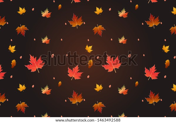 Autumn Natural Leave Flowers Cute Vector Nature Backgrounds