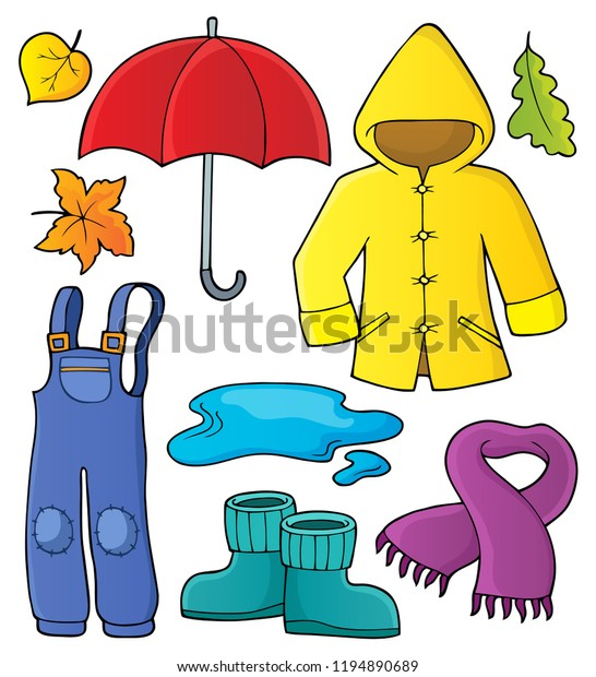 Autumn objects theme set 1 - eps10 vector illustration.
