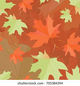 Autumn pattern with maple leaves.