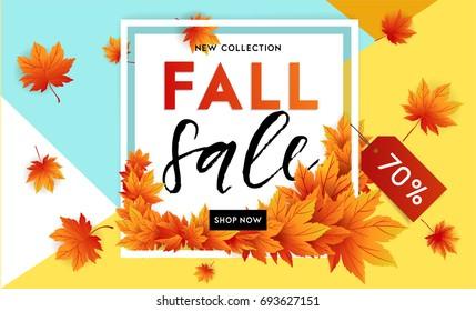hello september autumn flyer template lettering stock vector