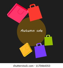 autumn sale paper package vector background
