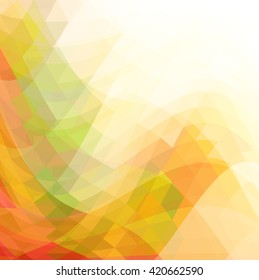 Autumn sales vector polygonal background