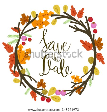 autumn save date stock vector royalty free 348991973 shutterstock