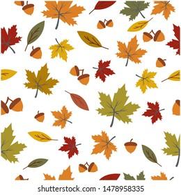 Autumn seamless background wallpeper vector illustration