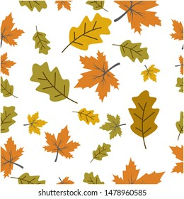 Autumn seamless background wallpeper vector illustration