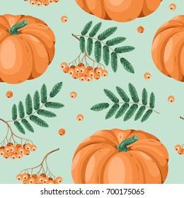 Autumn seamless pattern in vector