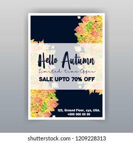 Autumn season sale card design vector