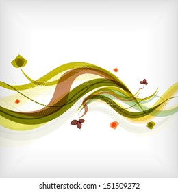 Autumn seasonal wave modern background