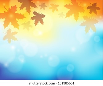 Autumn theme background 2 - eps10 vector illustration.