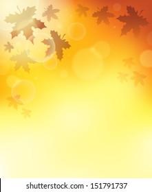 Autumn theme background 3 - eps10 vector illustration.