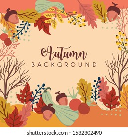 autumn theme for background and social media feeds