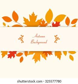 Autumn theme background. Vector eps10