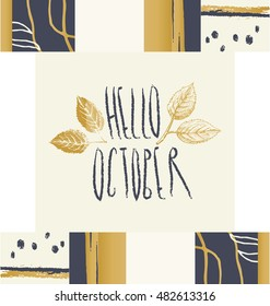 Autumn theme. Creative design. Seasonal card.