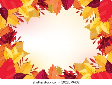 Autumn themes design with flat leaves background. suitable for wallpaper and banner purpose