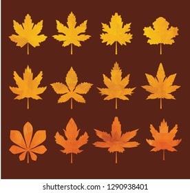 Autumn tree leaves abstract