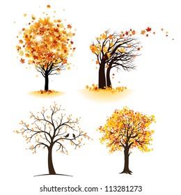 Autumn tree set