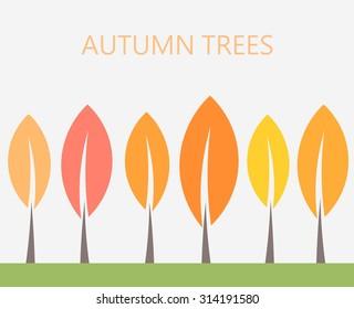 Autumn trees. Vector illustration