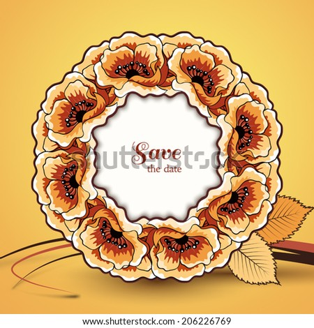 autumn vector background save date card stock vector royalty free