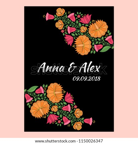 autumn wedding save date card template stock vector royalty free