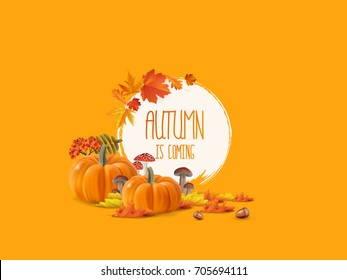 autumnal abstract background in grunge style