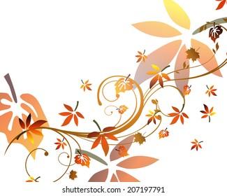 Autumnal design - vector