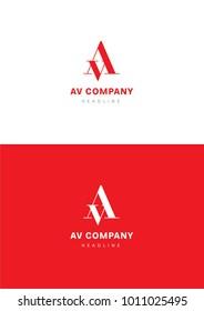 AV company logo template.