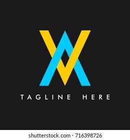 AV Company Logo Vector Template Design