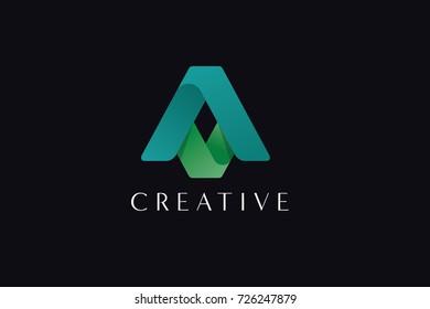 AV Letter Creative  logo design.